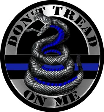 Do Not Tread On Me Thin Blue Line  Reflective Decal