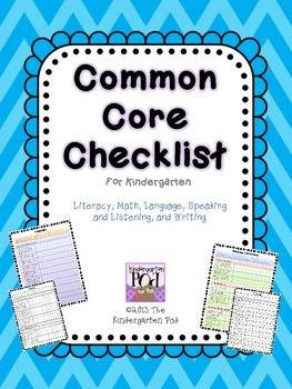 This HUGE product will be a great time-saver in your classroom.  The Common Core Checklist covers ALL Common Core Domains and Strands for Kindergarten in both color and black-and-white for ease of printing.Each Domain is written out and color coded for ease of reference.