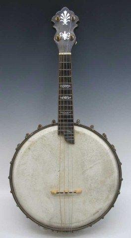 VINTAGE 8 STRING MOTHER OF PEARL BANJOLIN / musical instruments