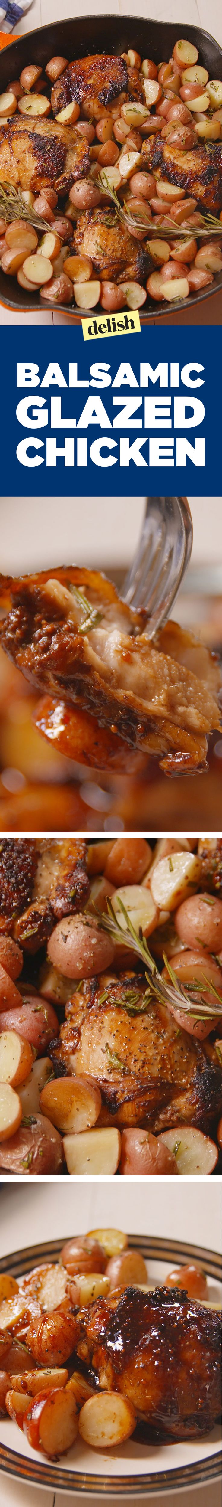 Balsamic Glazed will make you feel like you're out to eat, even when you're not. Get the recipe on Delish.com.