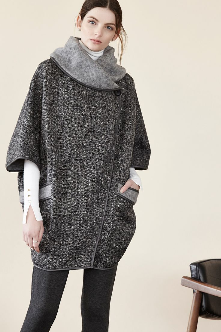 Cooler Temperatures are coming, don't worry; we've got you covered. The new Shannon Passero Lifestyle Collection brushed Sweater Knit Cape is detailed and beautiful, allowing for layering with long sleeves underneath all season long. http://ss1.us/a/GecScEWQ