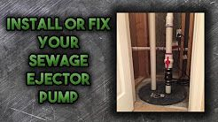 How to Install a Sewage Ejector Pump - YouTube