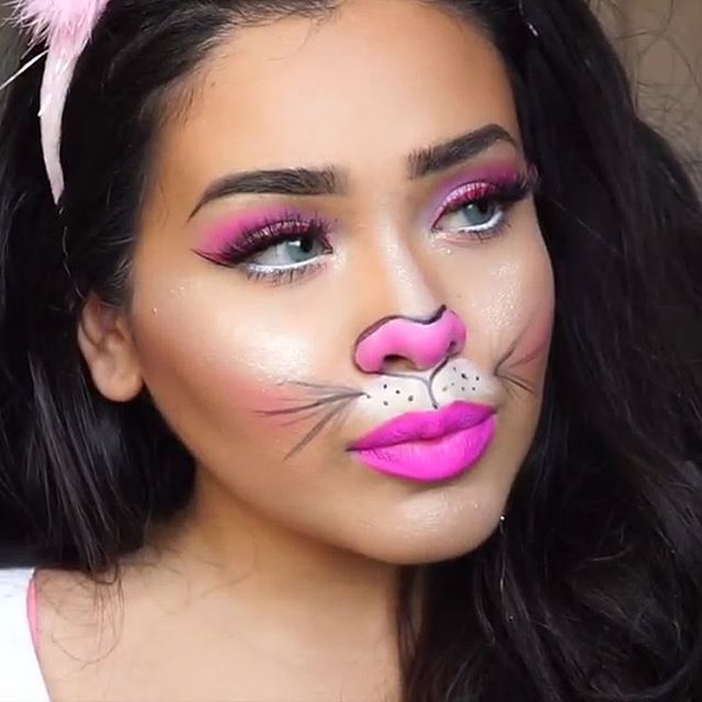 Some-bunny is looking cute using #SigmaPink products. @alvajay wearing our Aura Powder, Line Ace and Lip Eclipse in our signature pink shade. // #sigmabeauty #