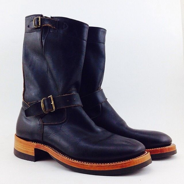 RRL horsehide engineer boots resole by Role Club | Role Club ...