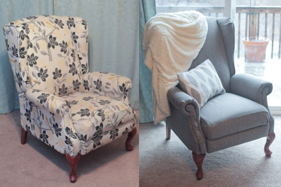 http://lavendercrowns.com/2014/01/12/furniture-refresher-reupholstery-for-a-wingback-recliner-ii/