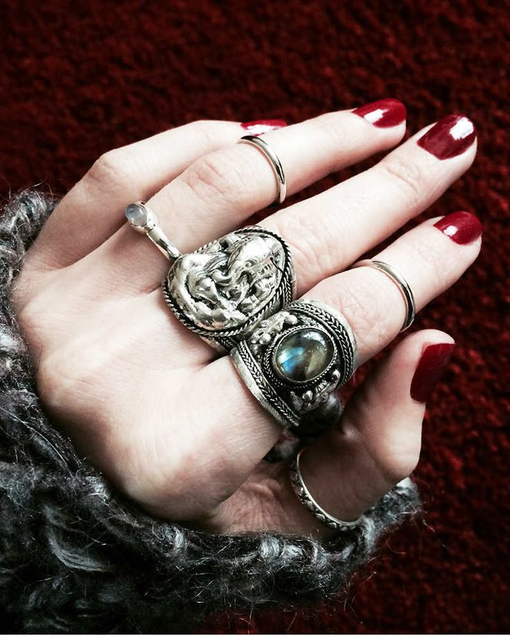 Buy Shop Dixi Ganesha Elephant Amulet Ring In Silver at Motel Rocks