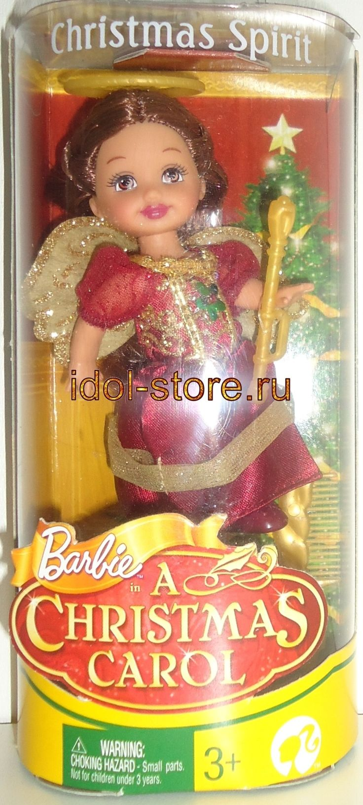 """Barbie in a Christmas Carol, Christmas Spirit doll, Angel, Kelly format, 2008, MATTEL. Барби, маленькая винтажная кукла в коллекцию """"Дух Рождества"""" формата Келли из серии """"Рождественская История Барби про """"Дух Рождества"""", по мультику """"Барби: Рождественская История"""""""
