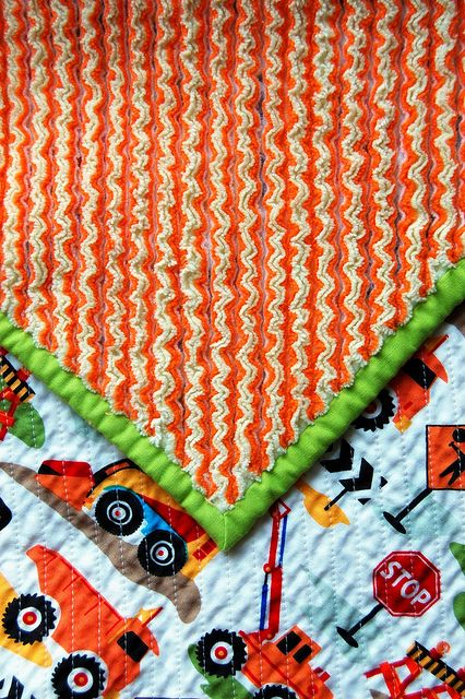 cut chenille quilt... sew several layers of flannel on top of a cotton print; cut the flannel on either side of the seams; wash and it becomes chenille!