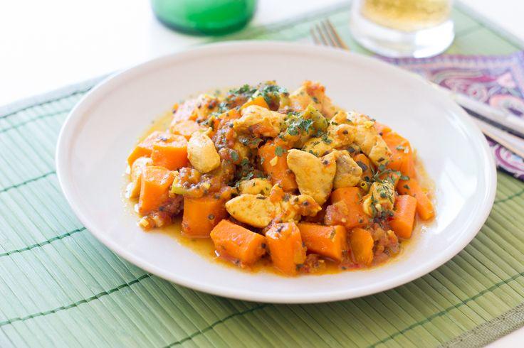 Curry de pollo y zanahorias