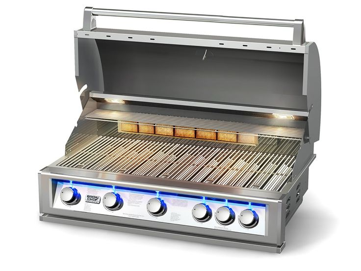 Natural Gas Grills - Pro-Series 40-Inch Built-In LP/Gas BBQ Grill with Blue LED