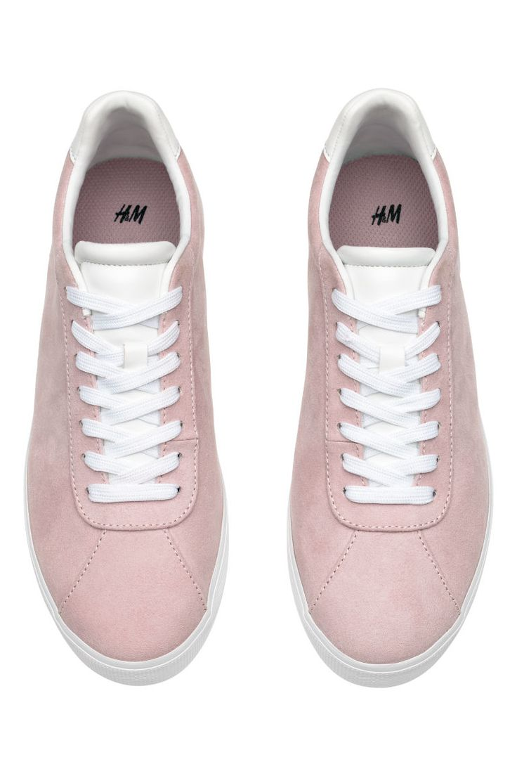 Sneakers - Pudderrosa /Semsket imitasjon - DAME   H&M NO 2