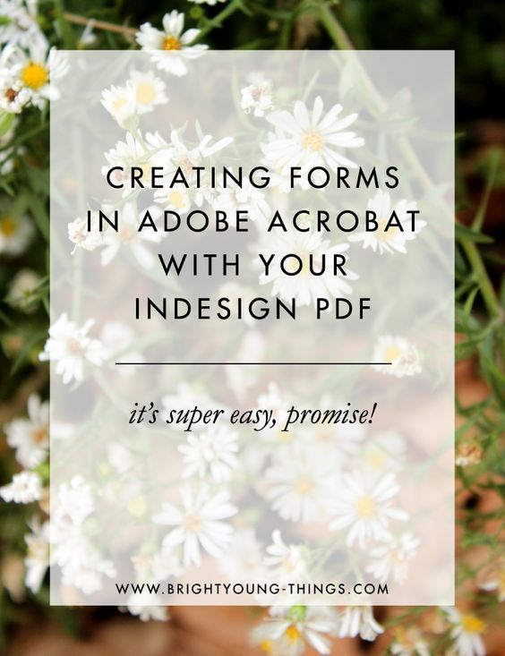 Creating Forms in Adobe Acrobat with your InDesign PDF. Great for contracts and e-signatures!