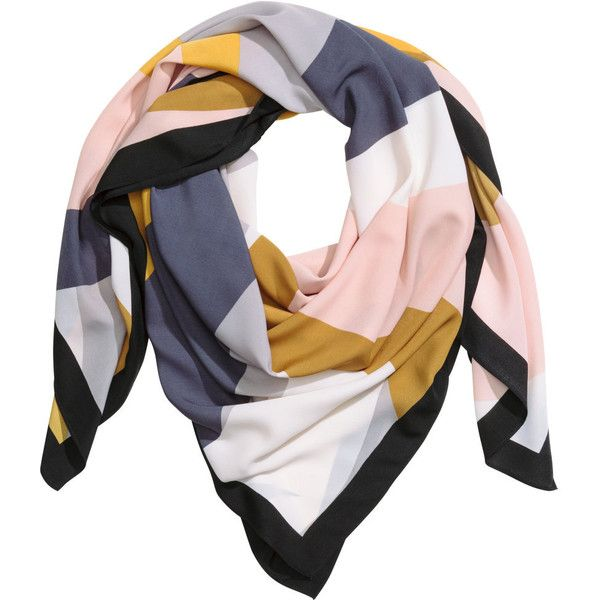 Patterned scarf $14.99 found on Polyvore featuring accessories, scarves, h&m, h&m scarves, patterned scarves and print scarves