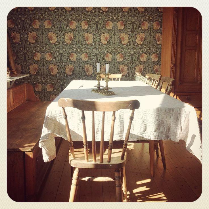William Morris in the dining area.