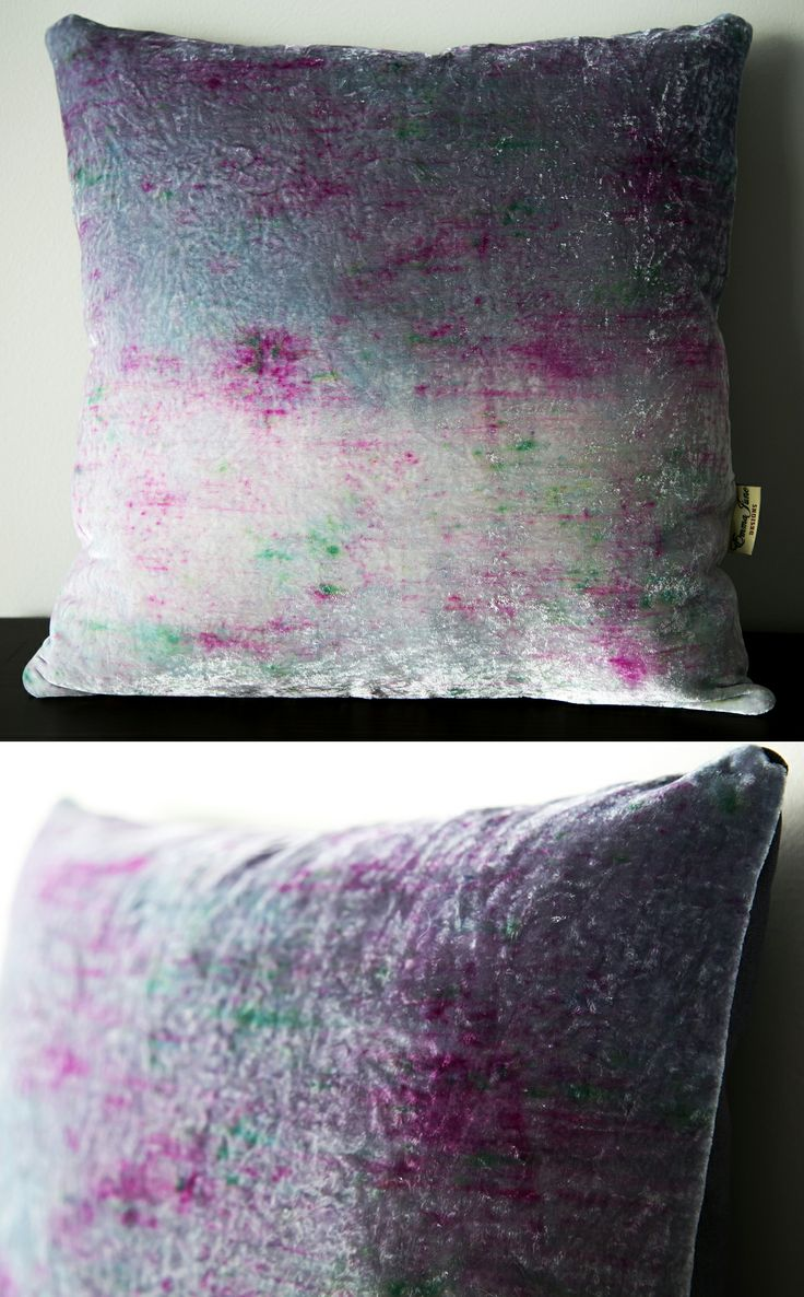 Spring inspired velvet ombre cushion available from my Etsy store: www.etsy.com/listing/183883914