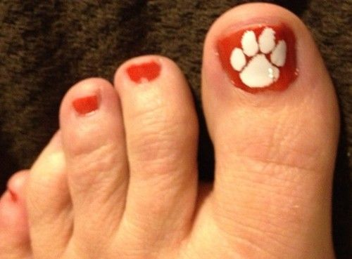 Clemson Tigers - Tiger Paw Pedicure Decals  Clemson Pedicure, Tiger Paws, Clemson University