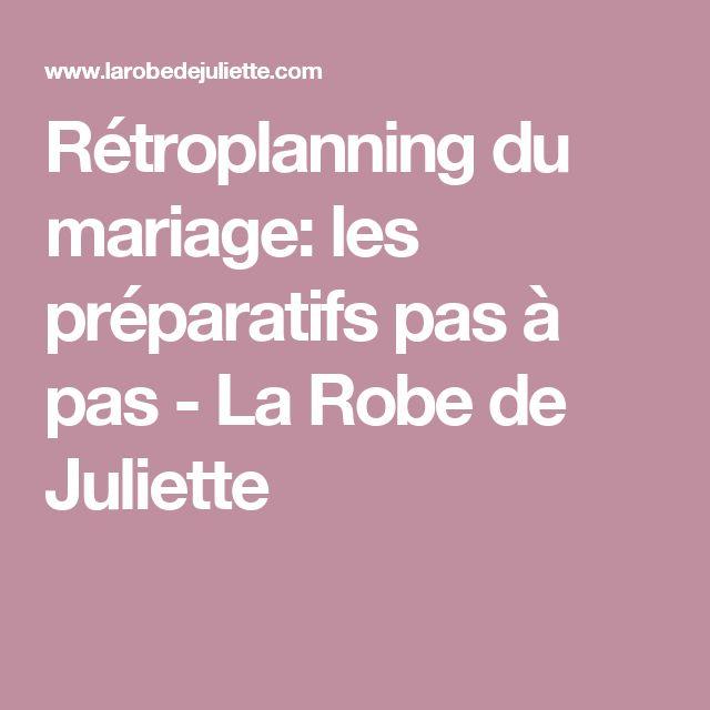 Rétroplanning du mariage: les préparatifs pas à pas - La Robe de Juliette