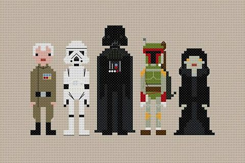 Pop culture cross-stitching by Jaqueline Gable