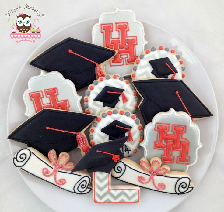University of Houston Graduation Cookies #UHGrad