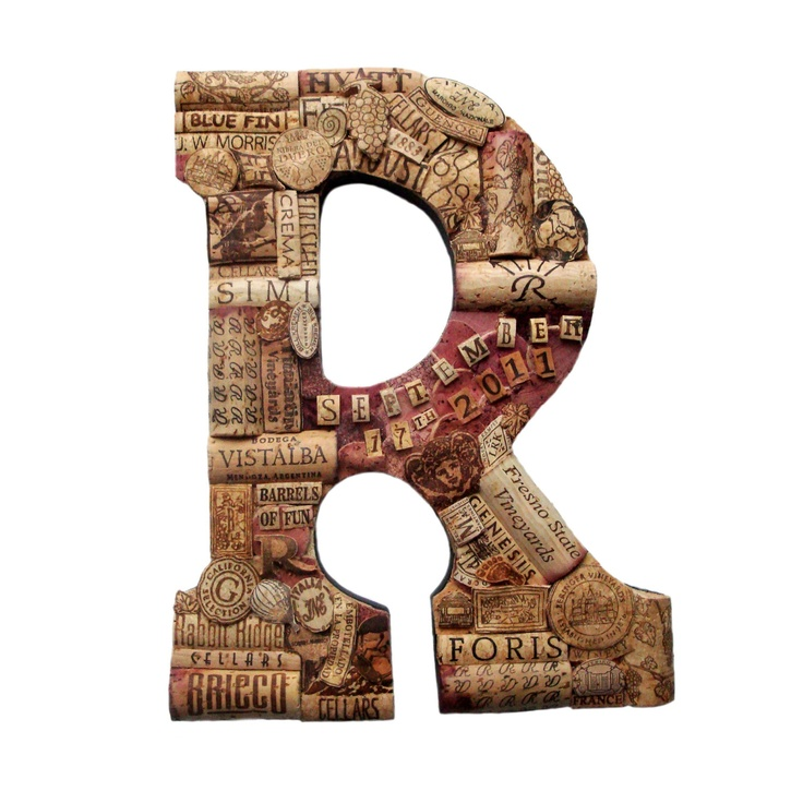 Customized Handmade Vintage Wine Cork Letter - Large Size - We Have EVERY Letter. $87.50, via Etsy.