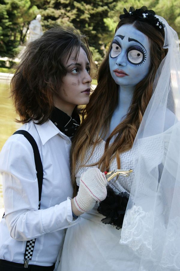 Tim Burton inspired makeup HalloweenMakeup Halloween makeup party  HalloweenIdeas beauty