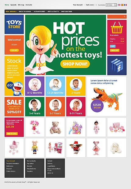 Toys Store PrestaShop Themes by Hermes