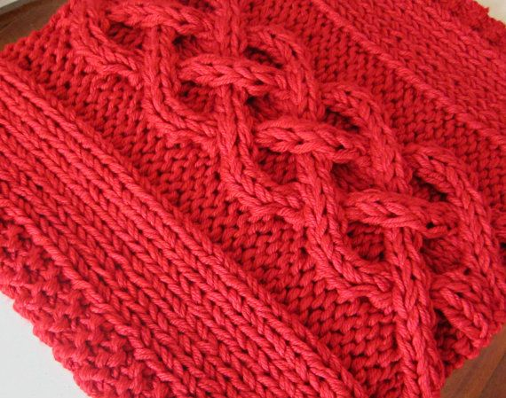 Cable Knit Baby Blanket Photography Prop Red Ready by OzarksMomma, $55.00