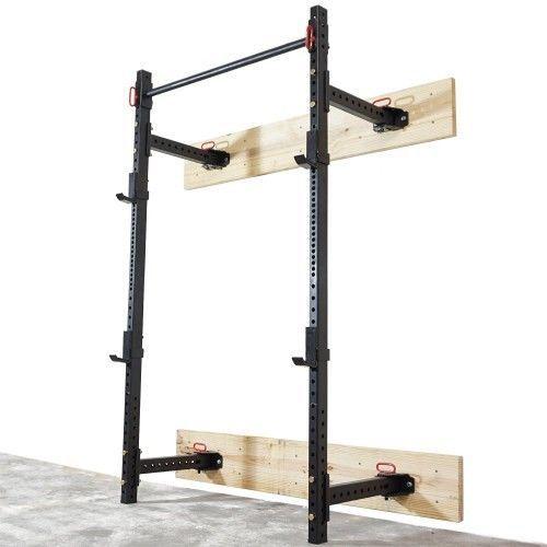 Fitness-T-3-Crossfit-Fold-Back-Power-Rack-21-5-Deep-Laser-Cut-Wall-Mount-Wod-NEW