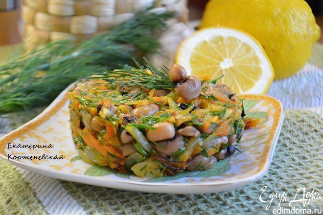 Салат с фасолью и овощами Вкусный и питательный салат! #едимдома #салат #рецепты #кулинария #фасоль #овощи #готовимдома #вкусно