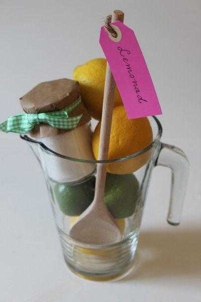 Gå bort present Lemonad set, billigt och enkelt att göra själv