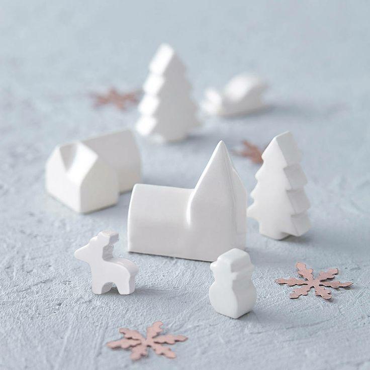 ceramic mini Christmas village