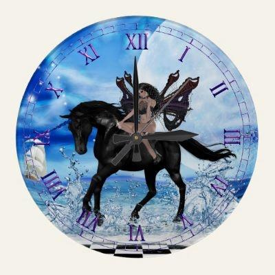 black unicorn wall clocks unicorns