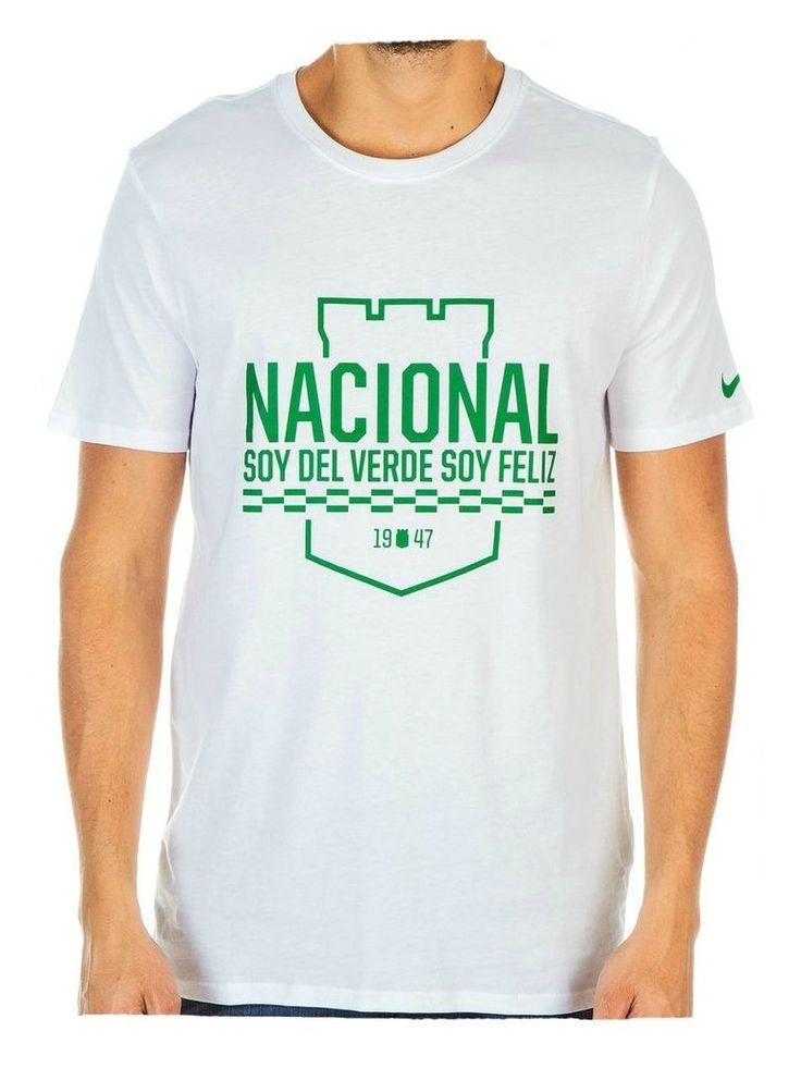 Camiseta Nike M/C Algodón Blanca Atlético Nacional 2016