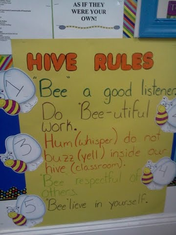 For my kindergarten class this year I'm doing a bee theme!!