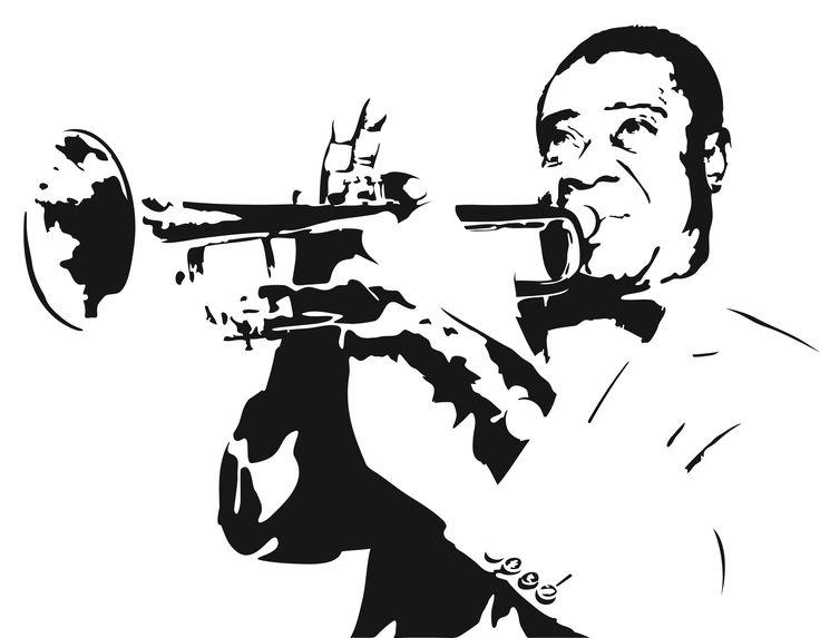 постер джазовый трубач для