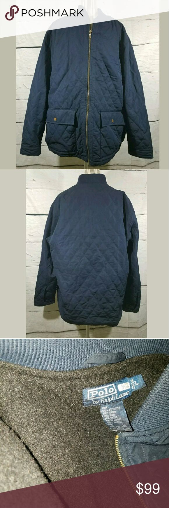 Ralph Lauren Polo Quilted Wool Lined Hunting Coat Ralph Lauren Polo Quilted Wool Lined Hunting Coat Blue Size Large EUC Polo by Ralph Lauren Jackets & Coats Military & Field