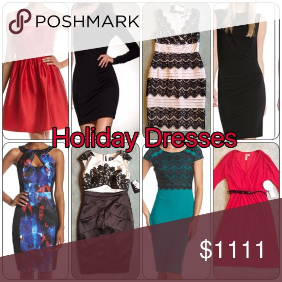 🎄Holiday Dress Options🎄 🎄Holiday Dress Options 🎄 Some holiday dress options all available in my closet, reasonable offers always welcome, will bundle discount Dresses