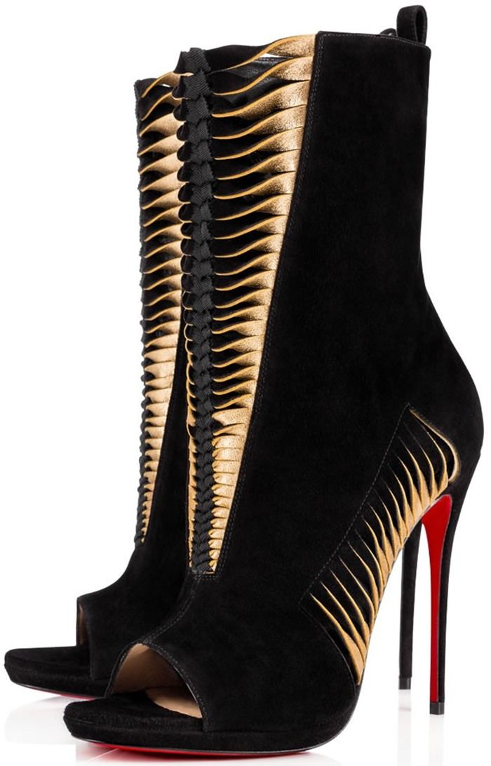 Christian Louboutin 'Miss Circus' Peep-Toe 120mm Red Sole Booties