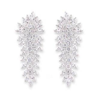 Buy Rhodium Cluster Earrings at competitive prices from Fishers on Cameron