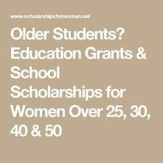 funding for mature student