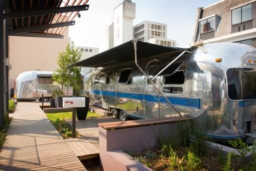 The Grand Daddy Hotel in the middle of Long Street in Cape Town offers rooftop trailers you can actually stay in!