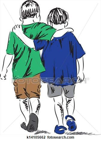 how to draw 2 people walking