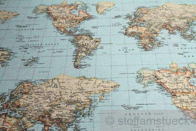 Baumwolle Polyester Weltkarte Landkarte Kontinent Material: 75 % Baumwolle / 25 % Polyester Breite: 140 cm Gewicht: 175 g / m²; 245 g / m Weltkarte ! Landkarte ! 7 Kontinente Der Preis bezieht...