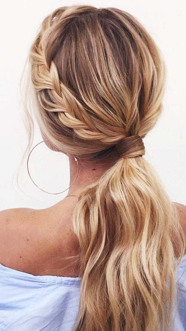 Braided Bun Http Www Hercampus Com School Trinity Easy Summer Hairstyles Hairdo For Long Hair Hair Styles Hair Lengths