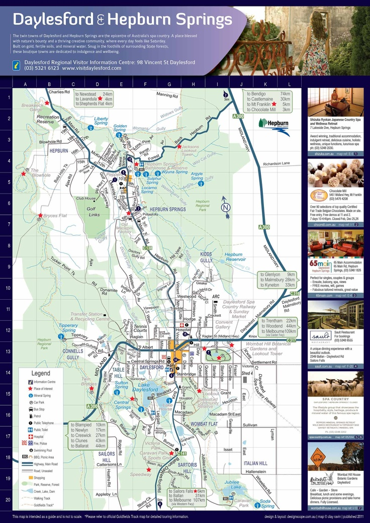 Road maps for Daylsford and Hepburn Springs