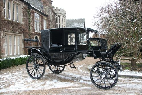 Gothic wedding transportation | victorian carriages « Lightfoot Weddings