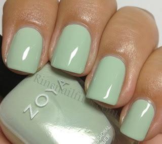 Neely - a light spring green cream  Zoya - Lovely Collection
