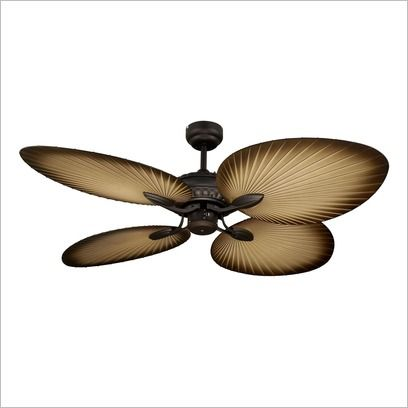 Oasis 1300mm Old Bronze 4 Palm Leaf Blade Fan Martec