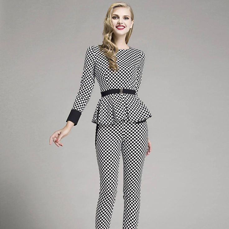 A litle too much checkers, but this top would be perfect with a knee length pencil skirt!