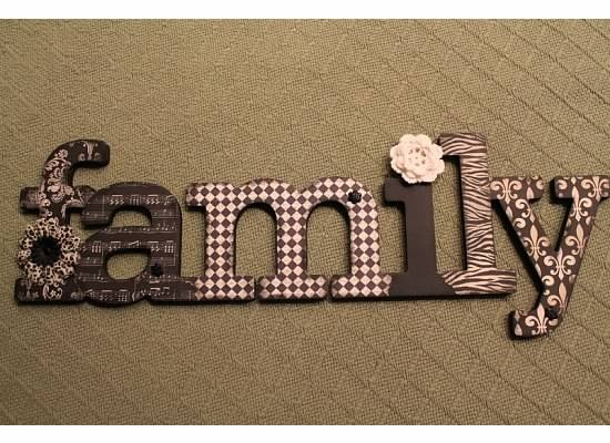 chipboard, scrapbook paper, homemade mod podge, black paint and embellishments. Craft